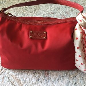KATE SPADE PURSE IN VERSATILE RED NYLON...PRETTY!